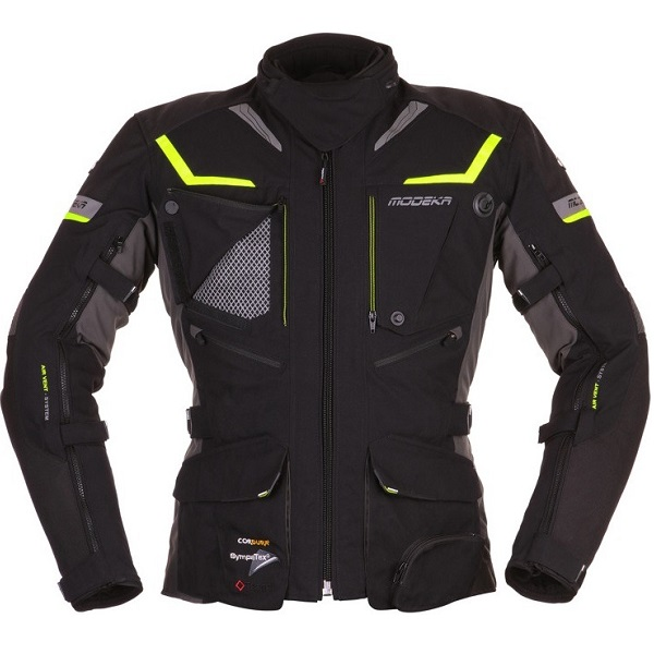 Motocyklowa kurtka tekstylna Modeka Panamericana Czarna