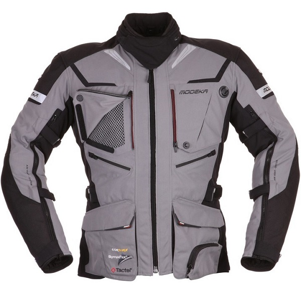 Motocyklowa kurtka tekstylna Modeka Panamericana Popielata