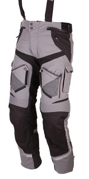 Motocyklowe spodnie tekstylne Modeka Panamericana Popielate