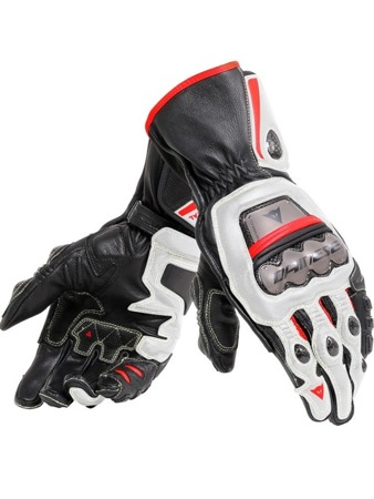 RĘKAWICE DAINESE MOTOCYKLOWE DAINESE FULL METAL 6 BLK/WHT/RED